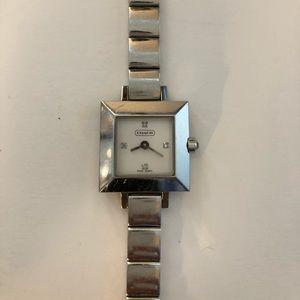 Coach silver-tone stainless steel watch
